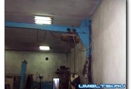 Кран-подъемник в гараже своими руками